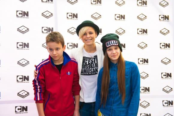 Gwiazdy ze swoimi dziećmi na imprezie Cartoon Network i Boomerang