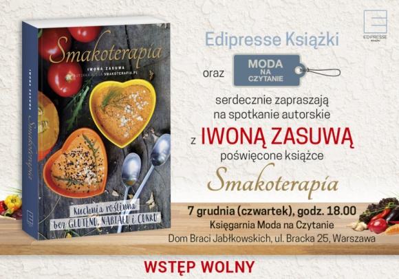 """Spotkanie autorskie Iwony Zasuwy """"Smakoterapia"""""""