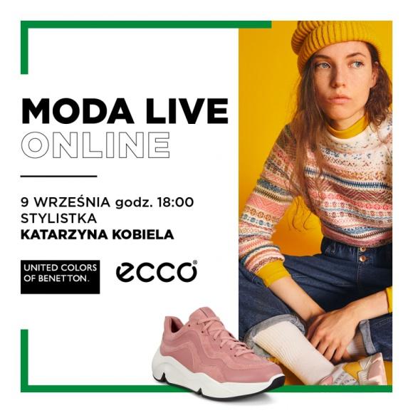 Stylizacje marek Benetton oraz Ecco podczas spotkania Moda Live Online
